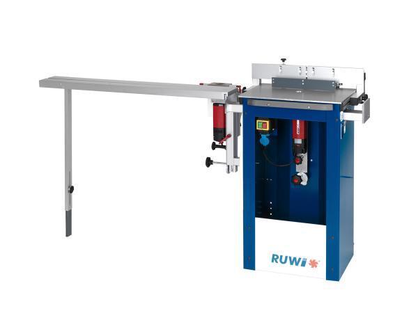 RUWI Tischfräse S - Oberfräse mit Befestigungsset für Tischverlängerung, Anschlaglineal, Bogenlineal, 3D Einheit und Tischverlängerung
