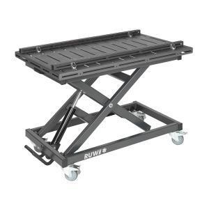 RUWI Schweißtisch Nut - Hubtisch Set mit Anschlagschienen 1200 x 800 mm